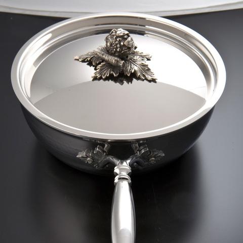 Вок 24см (4,0л), крышка с посеребренной декорированной ручкой,RUFFONI Opus Prima арт. B24 Ruffoni