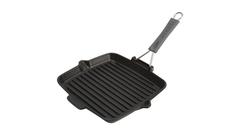 Сковорода для гриля Staub квадратная, черная с силиконовой ручкой 24х24 см 1202123