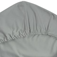 Простыня на резинке из сатина светло-серого цвета из коллекции Essential, 160х200х28 см Tkano TK19-FS0020