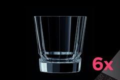Набор из 6 низких стаканов 320мл Cristal d'Arques Macassar L6609