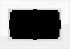 Рамка для двойной розетки (белый,стекло) WL01-Frame-01-DBL Werkel