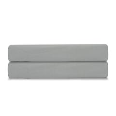 Простыня на резинке из сатина светло-серого цвета из коллекции Essential, 180х200х28 см Tkano TK19-FS0025