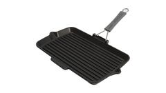 Сковорода для гриля Staub прямоугольная, черная с силиконовой ручкой 34х21 см 1202223