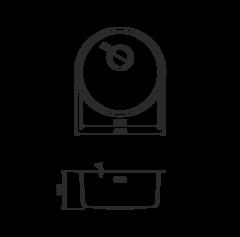 Кухонная мойка из нержавеющей стали OMOIKIRI Toya 42-АB (4993187)