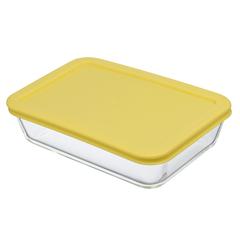 Контейнер для еды Smart Solutions стеклянный 700 мл желтый JV700RC