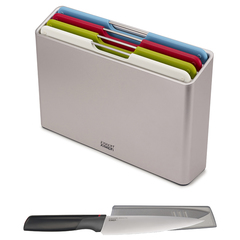 Набор разделочных досок Joseph Joseph Folio Regular серебристый с ножом 98995