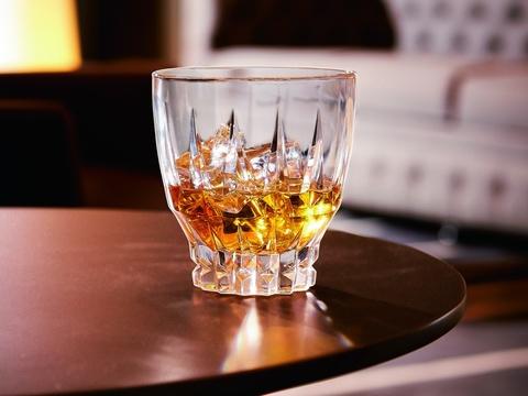Набор из 4 низких стаканов 320мл Cristal d'Arques Ornements L6611