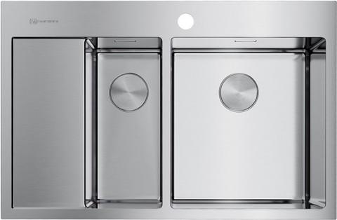 Кухонная мойка из нержавеющей стали OMOIKIRI Akisame 78-2-IN-R (4973063)