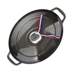 Кастрюля чугунная 27 см (3,6л), овальная, CHASSEUR Caviar (цвет: cеребристо-черный) арт. 472789