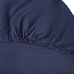 Простыня на резинке из сатина темно-синего цвета из коллекции Essential, 180х200х28 см Tkano TK19-FS0026