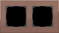 Рамка на 2 поста (коричневый алюминий) WL11-Frame-02 Werkel