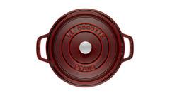 Кокот Staub круглый, 22 см, 2,6 л, гранатовый 1102287
