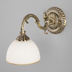 Классическое бра со стеклянным плафоном Eurosvet Caldera 60106/1 античная бронза