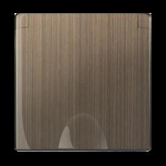 Накладка для розетки IP44 с крышкой (бронзовый) WL12-SKGSC-IP44-CP Werkel