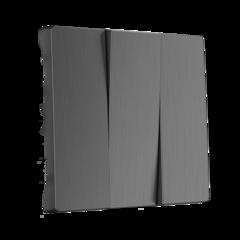 Набор клавиш для выключателя трехклавишного (графит рифленый) WL04-SW-3G-CP Werkel