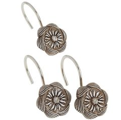 Набор из 12 крючков для шторки Carnation Home Fashions Auburn Silver PHP-AU/03