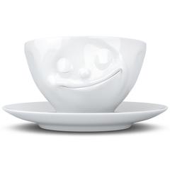 Чайная пара Tassen Happy 200 мл белая T01.43.01