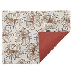 Cалфетка двухсторонняя под приборы из хлопка терракотового цвета с принтом Цветы из коллекции Prairie, 35х45 см Tkano TK20-PM0001