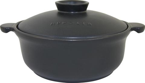 Кастрюля круглая 38,5х30 (5,2л) Appolia Terry&Flamme BLACK LID 500050001