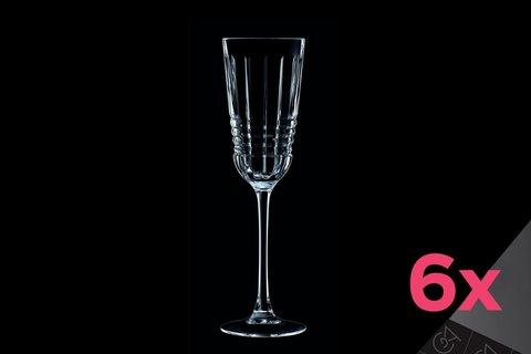 Набор из 6 бокалов для шампанского 170мл Cristal d'Arques Rendez-Vous L8234