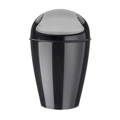 Корзина для мусора с крышкой DEL S, 5 л, чёрная Koziol 5777526
