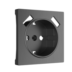Накладка для розетки USB (графит рифленый) WL04-USB-CP Werkel