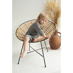Рубашка из хлопкового муслина серого цвета из коллекции Essential 3-4Y Tkano TK20-KIDS-SHI0009