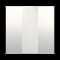 Набор клавиш для выключателя трехклавишного (перламутровый рифленый) WL13-SW-3G-CP Werkel