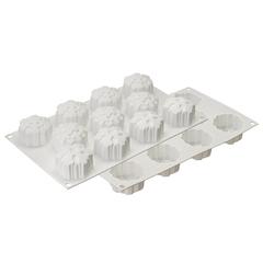 Форма для приготовления пирожных и конфет Snowflakes 30,5 х 18 см Silikomart 26.115.87.0065