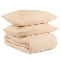 Комплект постельного белья полутораспальный из сатина бежево-розового цвета из коллекции Essential Tkano TK20-DC0041