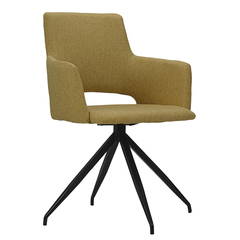 Кресло Berg Camila, рогожка, горчичное UCH-CATRF01