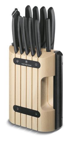 Подставка Victorinox для ножей, с черной ручкой, дерево MV-7.7050.0