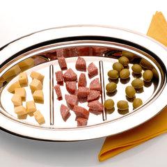 Блюдо сервировочное овальное с тремя сегментами 350х240мм Straight BergHOFF 1105574