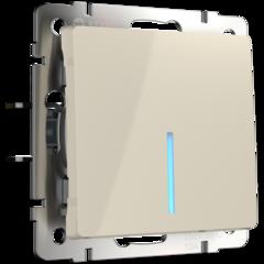 Выключатель одноклавишный проходной с подсветкой (слоновая кость) WL03-SW-1G-2W-LED-ivory Werkel