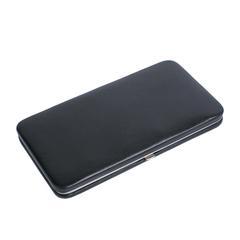 Маникюрный набор Erbe, 7 предметов, кожаный футляр, цвет черный 9187ER