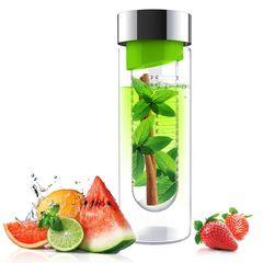 Бутылка Asobu Flavour it (0,48 литра) зеленая с серебристым SWG11 lime-silver