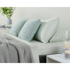 Комплект постельного белья полутораспальный из сатина мятного цвета из коллекции Wild Tkano TK20-DC0008