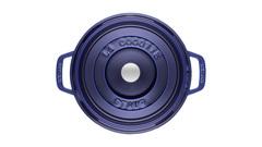 Кокот Staub круглый, 24 см, 3,8 л, темно-синий 1102491