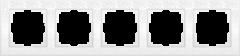 Рамка на 5 постов  (белый) WL05-Frame-05-white Werkel