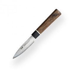 Нож кухонный овощной 80мм SUNCRAFT SENZO BLACK BD-01