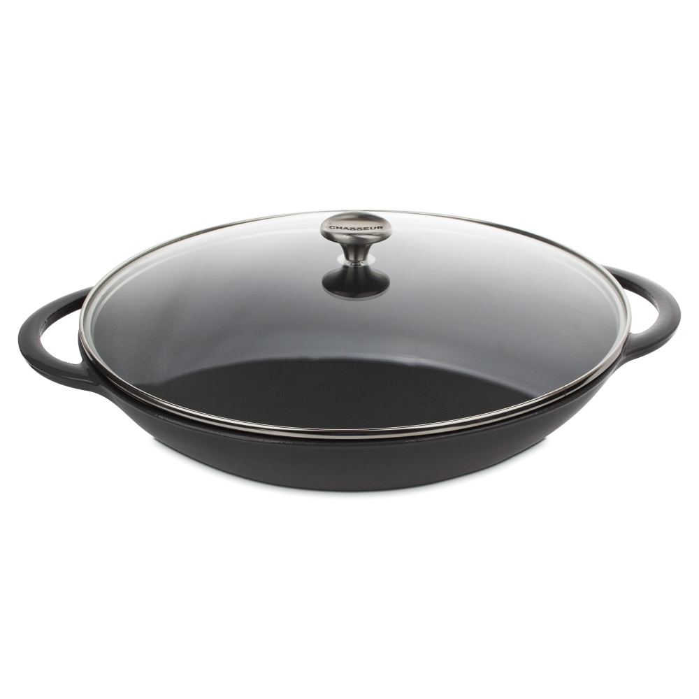 Вок чугунный 37 см CHASSEUR Caviar (цвет: cеребристо-черный) арт. 103789 фото