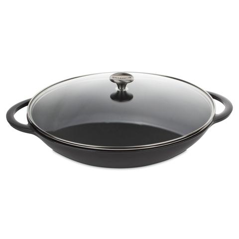 Вок чугунный 37 см CHASSEUR Caviar (цвет: cеребристо-черный) арт. 103789