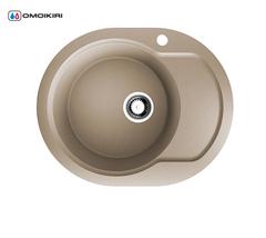 Кухонная мойка из искусственного гранита (Artgranit) OMOIKIRI Manmaru-62-SA (4993414)