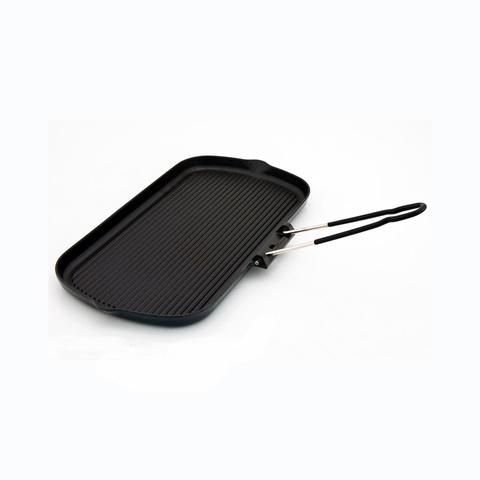 Сковорода гриль чугунная с эмалированным покрытием 37.5х22.5 см CHASSEUR арт. 32702