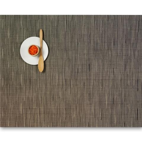 Салфетка подстановочная, жаккардовое плетение, винил, (36х48) Charcoal (100105-006) CHILEWICH Bamboo арт. 0025-BAMB-CHAR