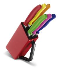 Набор Victorinox кухонный, 6 предметов, в подставке, цветной 6.7126.6