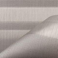 Салфетка подстановочная, жаккардовое плетение, винил, (36х48) Silver (100137-004) CHILEWICH Tuxedo stripe арт. 0201-TXST-SILV