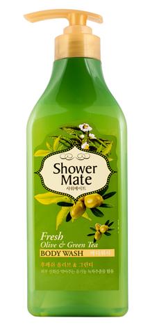 Гель для душа Shower Mate Оливки и зеленый чай 550г 876756