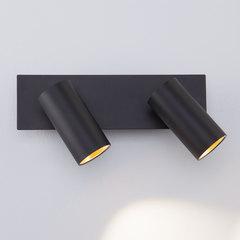 Светодиодный настенный светильник с поворотными плафонами Eurosvet Fleur 20066/2 LED черный/золото
