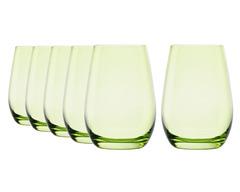 Набор из 6 стаканов 465 мл Stolzle светло-зеленый Elements